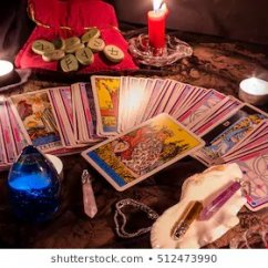 tarot-cards-by-candlelight-evening-260nw-512473990